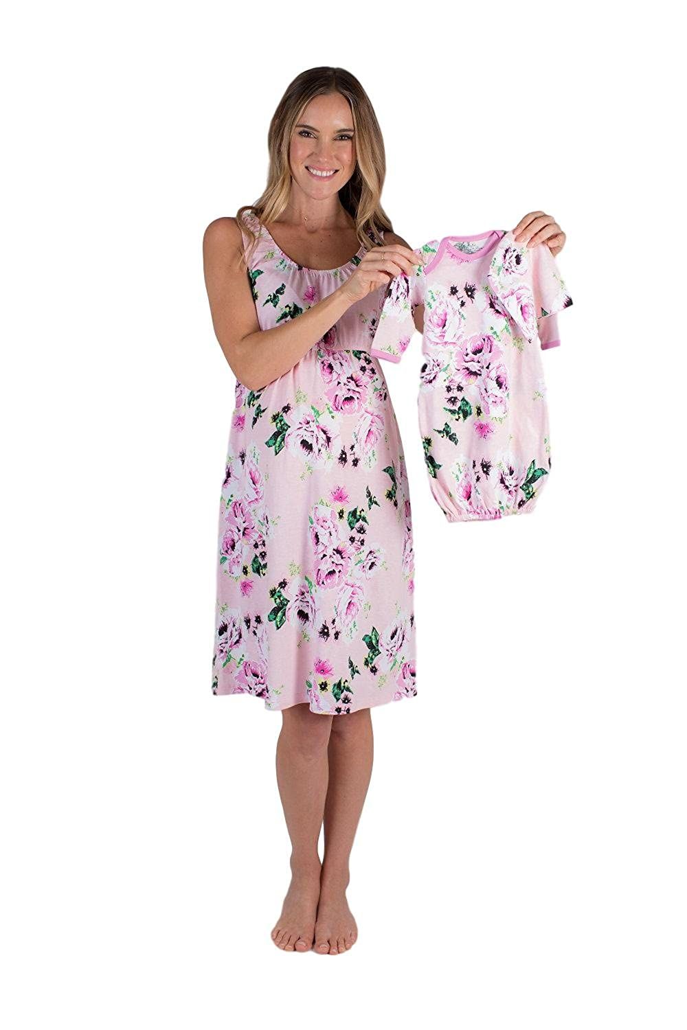 3af682ecf3f8 Baby Be Mine Maternity Nursing Nightgown   Matching Baby Layette Set ...