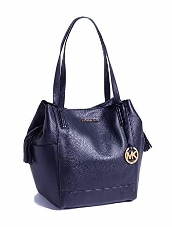 f379f7fc4bf5 Image Unavailable. Image not available for. Color: Michael Kors Large  Ashbury Grab Leather Bag Navy