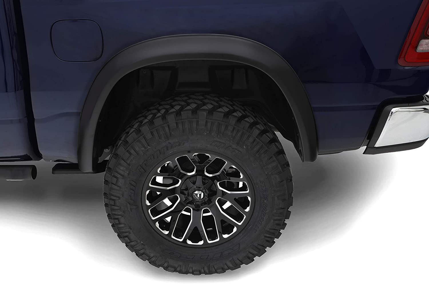 Excludes Rebel Bushwacker 50928-02 Black OE-Style Smooth Finish 4-Piece Fender Flare Set for 2019 Ram 1500