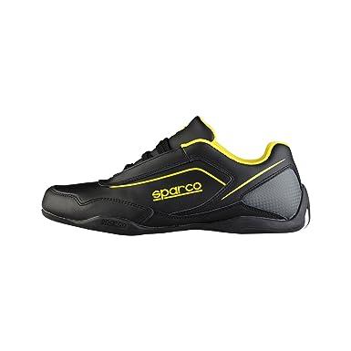 Sparco Mens Sneakers JEREZ - Black Yellow - 40