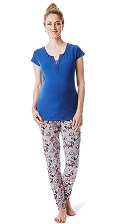 outlet store 67a34 f538d Esprit Umstandsmode, Nachwäsche Damen Pyjama 2 TLG.  Schlafanzug/Schwangerschaft & Stillzeit