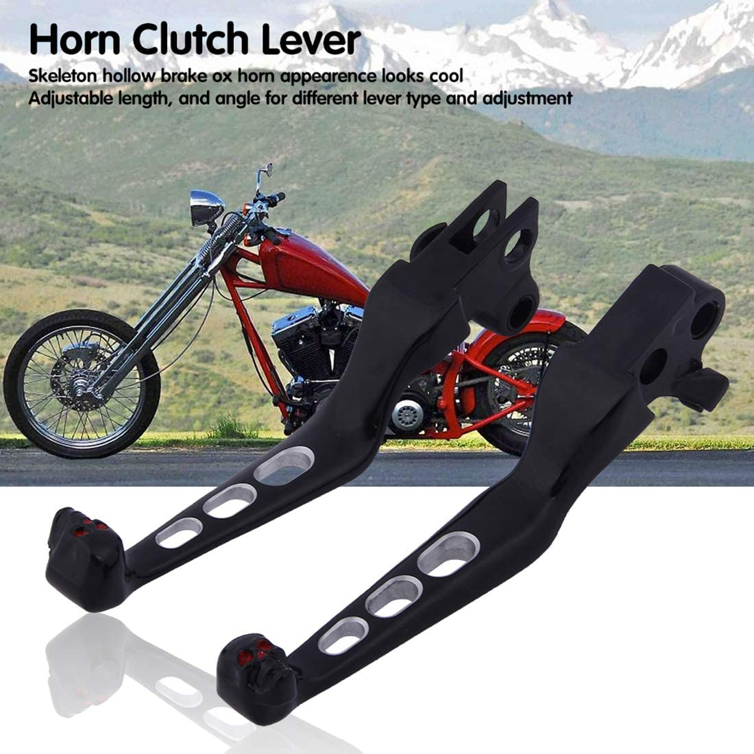 YCDTMY Motorcycle Refitted Ox Horn Clutch Lever