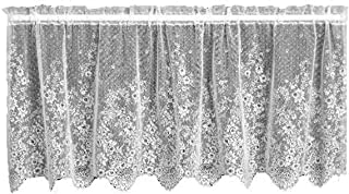 product image for Heritage Lace Floret 60-Inch Wide by 30-Inch Drop Tier, White