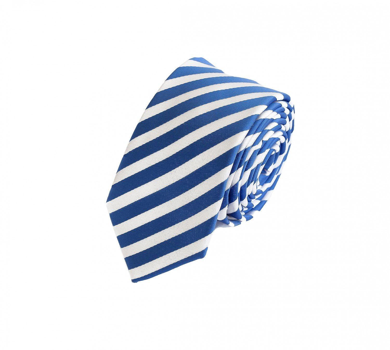 Fabio Farini Corbata azul, blanco: Amazon.es: Ropa y accesorios