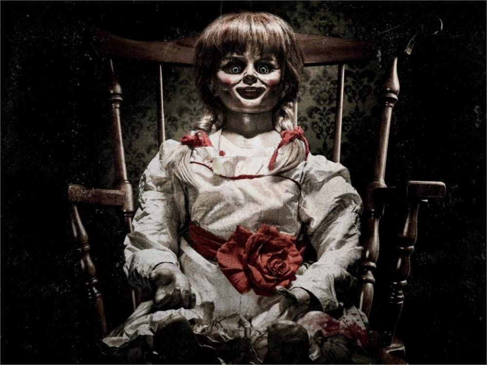 Amazon Com Twenty Three Annabelle 2014 Movie 24x36 Inchcanvas Poster Wall Decor Posters Prints