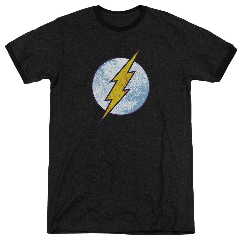 Sons of Gotham Dco Flash Neon Distress Logo Adult Ringer T Shirt M