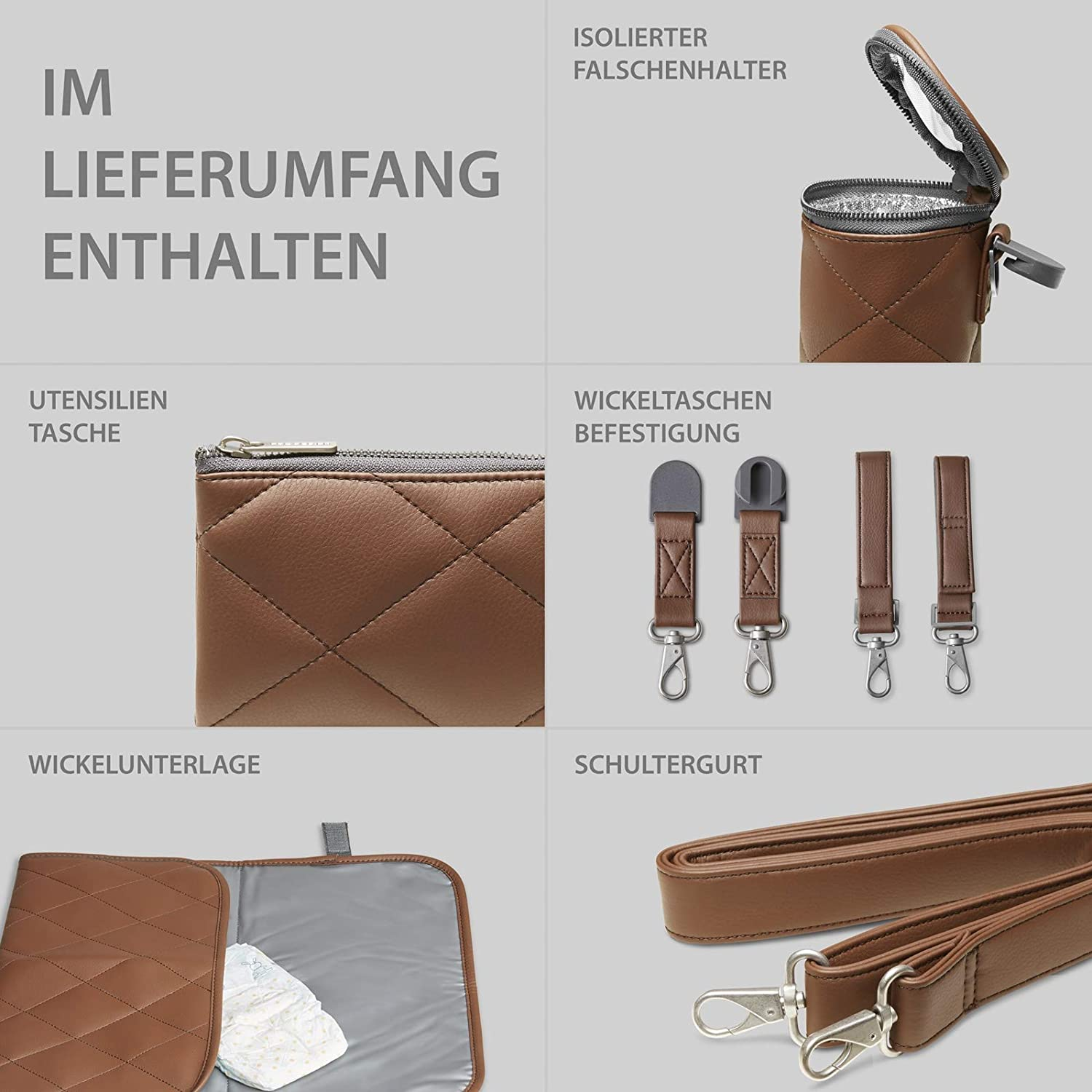 ABC Design 2020 Wickeltasche Style brown