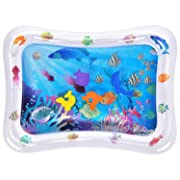 Water Play Mat BATTOP Inflatable Baby Water Mat Tummy Time Activity Center Sensory Toys for Toddlers (Sea World)