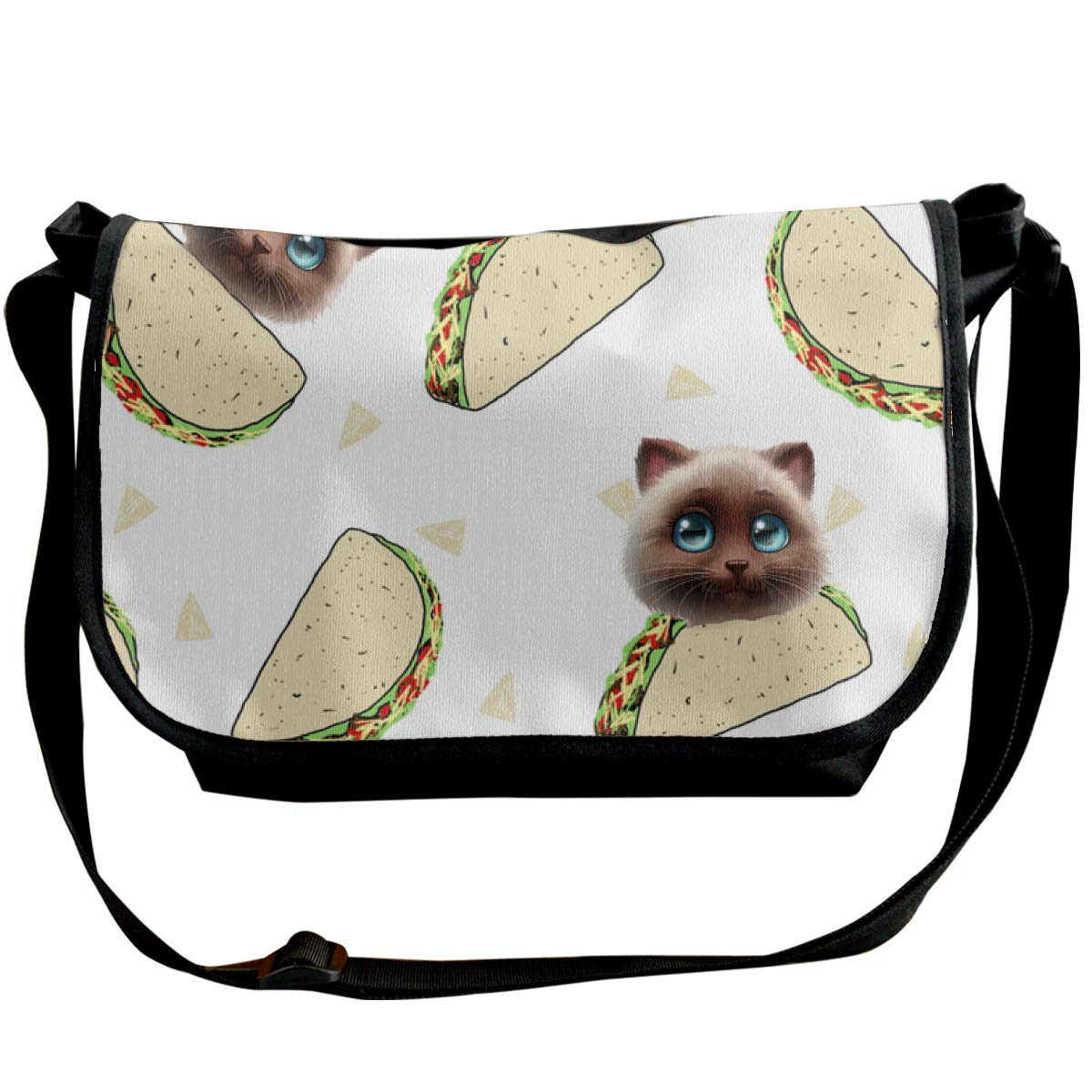 Futong Huaxia Cat Taco Travel Messenger Bags Handbag Shoulder Bag Crossbody Bag Unisex