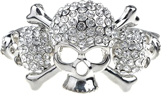 Gothic Ladies Rhinestone Skull bracelet Available in Silver Gold Women/'s Fancy bracelet Rhinestone Skull Gothic Jewelry Skull Jewelry