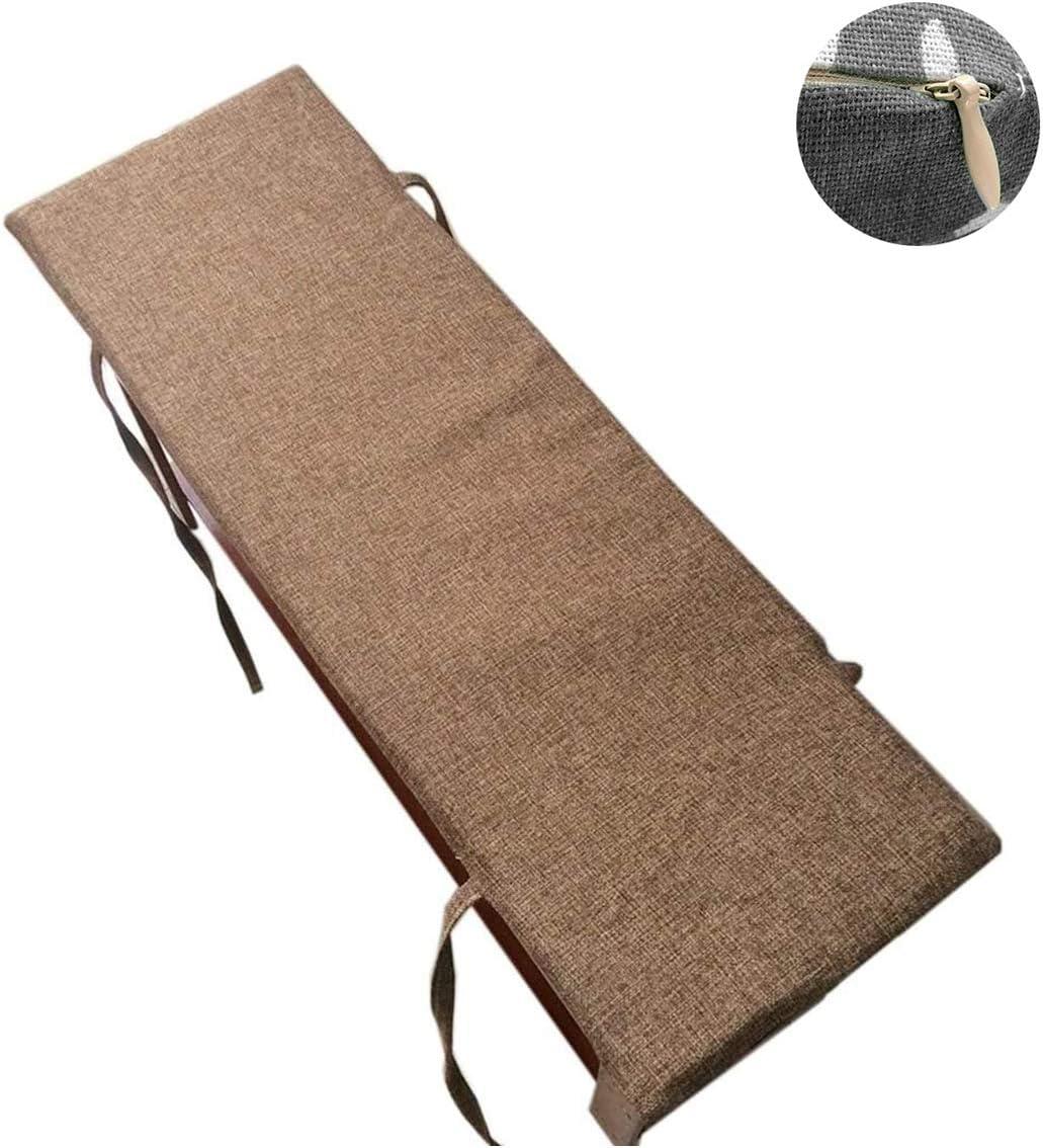 spazioso Comodo e Spesso per Giardino e Interni Cuscino per Panca da 2 a 3 posti Stile 1,48 * 120 CM BoruisX Cuscino Lungo per Panca con Lacci di Fissaggio