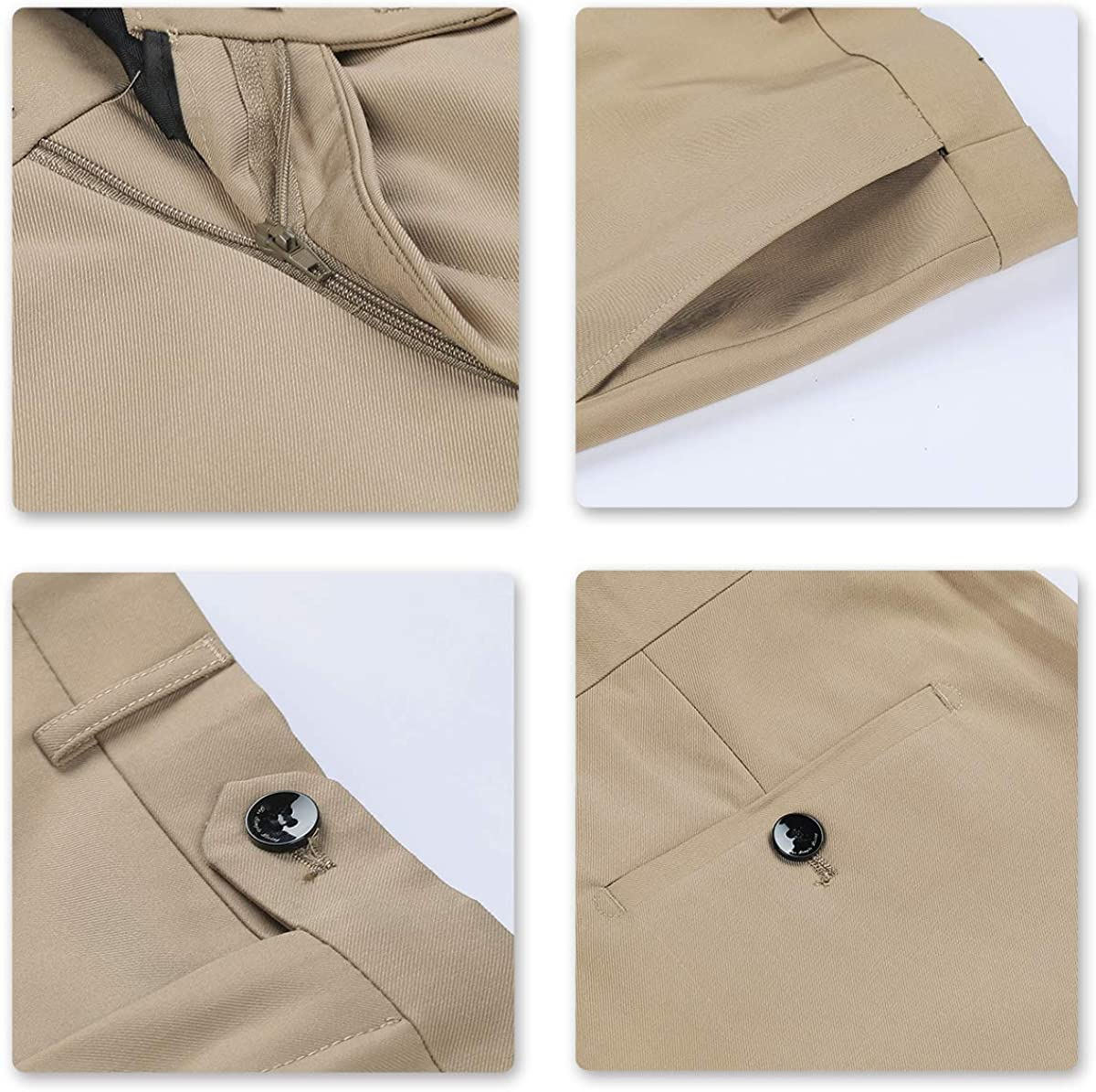 Amazon.com: YFFUSHI Trajes de 2 piezas para hombre, un botón ...