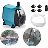 Tstkcom Submersible Water Pump, Ultra Quiet Fountain Circulation Water Pump with Handle for Pond, Aquarium, Fish Tank Fountain, Powerful Water Pump with 4.6ft (1.4M/1.9M) Power Cord. … (520GPH) (120 GPH)
