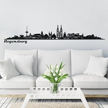 Baumarkt Regensburg wandkings skyline wandaufkleber wandtattoo 125 x 30 cm in schwarz