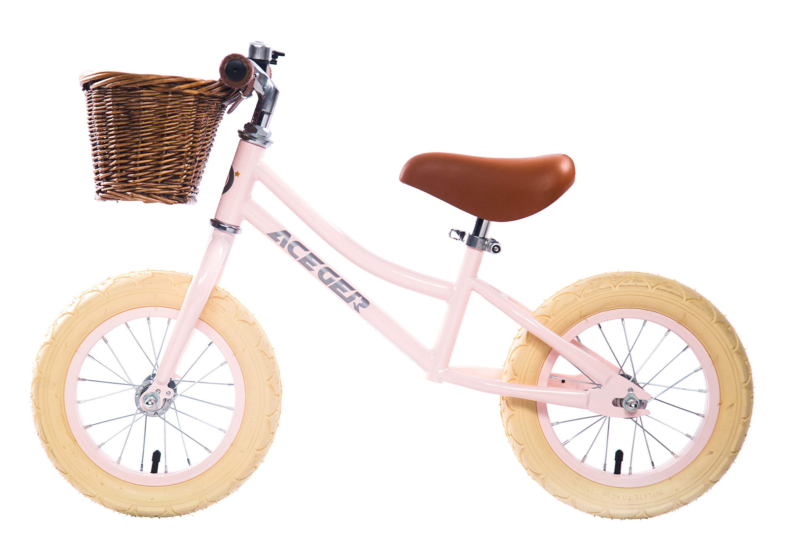 ACEGER Balance Bike with Basket for Kids, Ages 2 to 5 Years(Pink