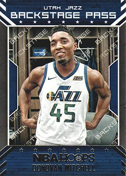 low priced 49549 47bd8 2018-19 NBA Hoops Basketball Back Stage Pass #BSP-6 Donovan ...