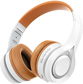 NUBWO S1 Bluetooth 4.1 Inalámbrico Auriculares Plegable Estirable Multi-fonction Cancelación de Ruido con Micrófono en Línea y Audio Compatible con Smartphone / Tableta / PC / Smart TV (Blanco): Amazon.es: Electrónica
