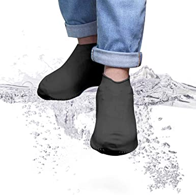 Silicone Waterproof Shoes Cover Unisex Anti-slip Reusable Boots protection