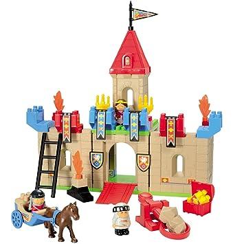 Kleinkindspielzeug RITTERBURG SCHLOSS mit Ritterfiguren und viel Zubehör Kinder Spielzeug NEU