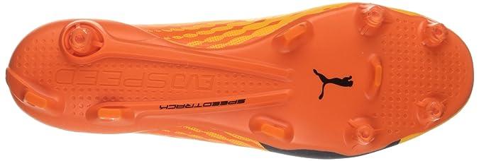 Scarpa da calcio per uomo Evospeed 17 SL S FG, pesce pagliaccio arancione giallo pisello, 12 m US
