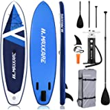 MaxKare SUP Inflatable Stand Up Paddle Board with 10.6' Long 32'' Wide 6'' Thick Premium Paddleboard & Triple Action…