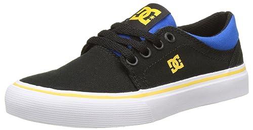 DC Shoes ADBS300251, Scarpe da Ginnastica Bambino, Multicolore (Black/Blue/Grey), 36 EU