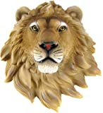 African Lion Head Mount Wall Statue Mini Bust Leo 9.5 In.