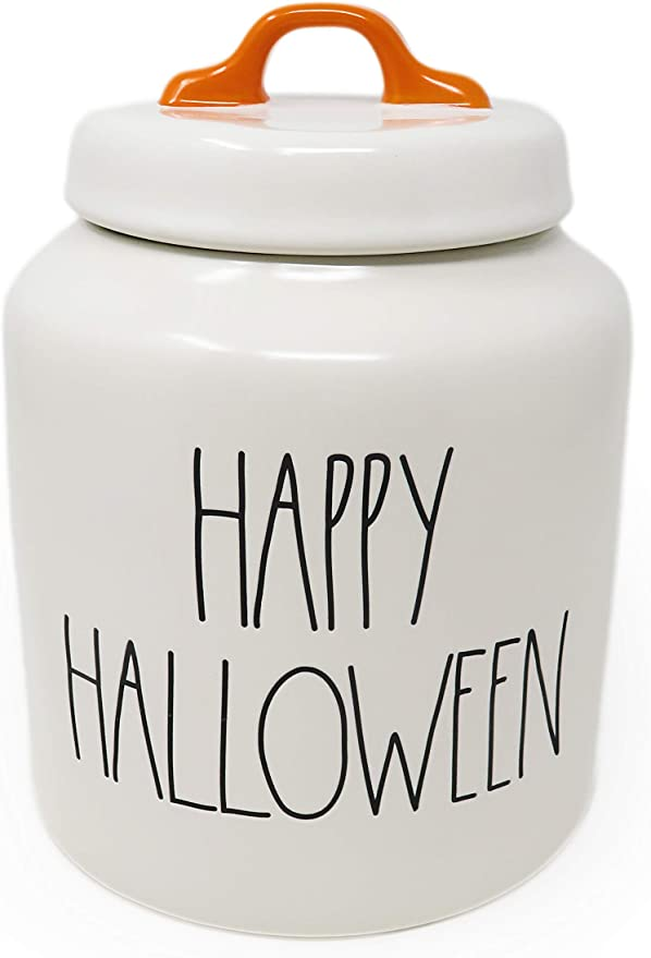 Maxcera Large Ceramic Frankenstein Halloween Candy Cookie Jar Canister New
