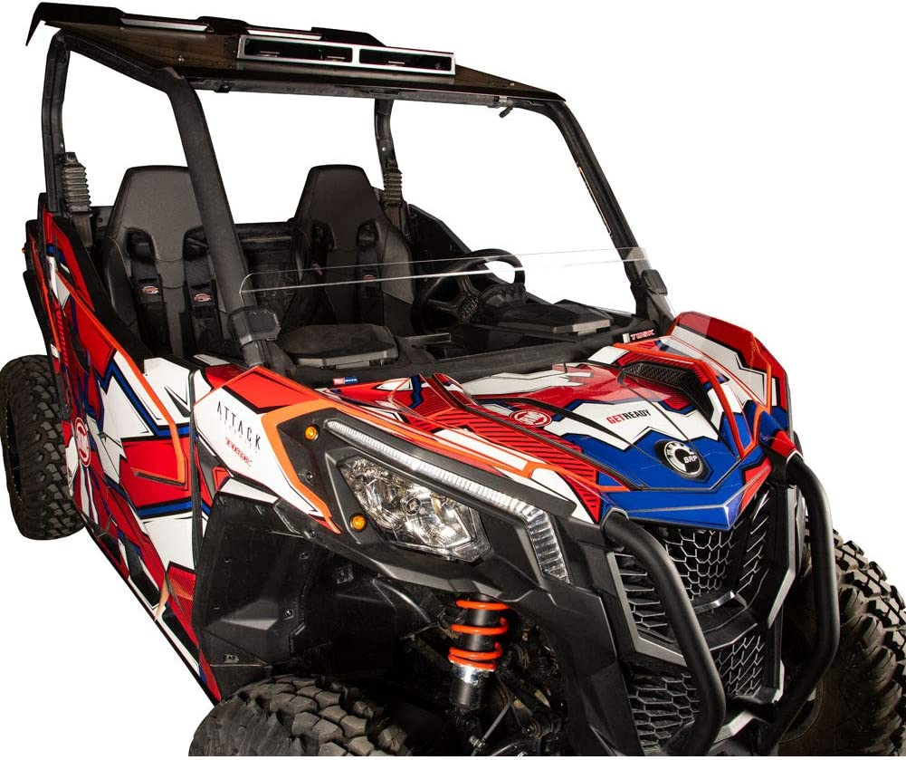 Tusk Removable Half Windshield Clear Can-Am Maverick X3 Turbo 2018
