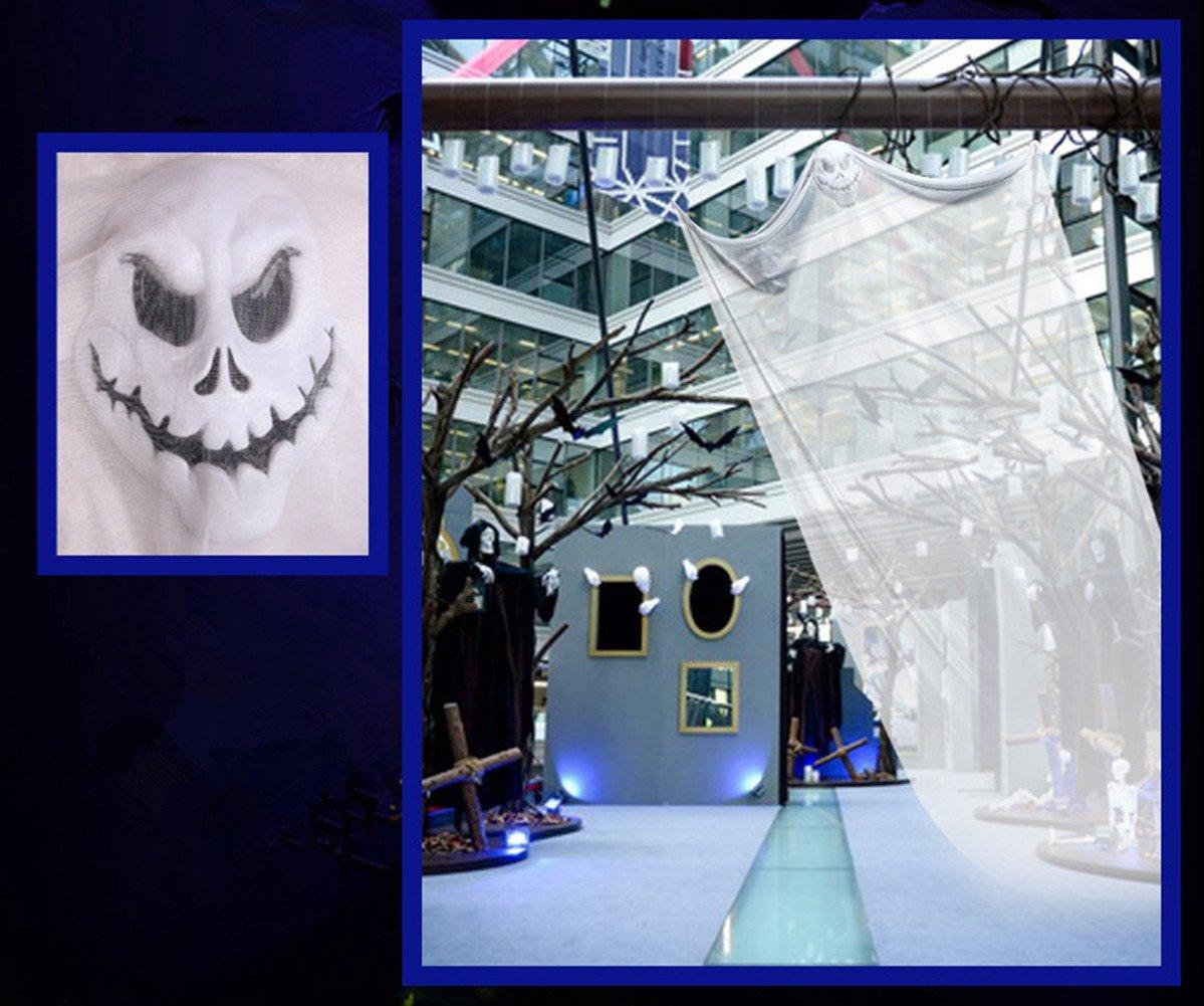 ailiebhaus halloween dekoration hngender geist gruselige deko wei amazonde kche haushalt - Kaminumhang Dekorationen