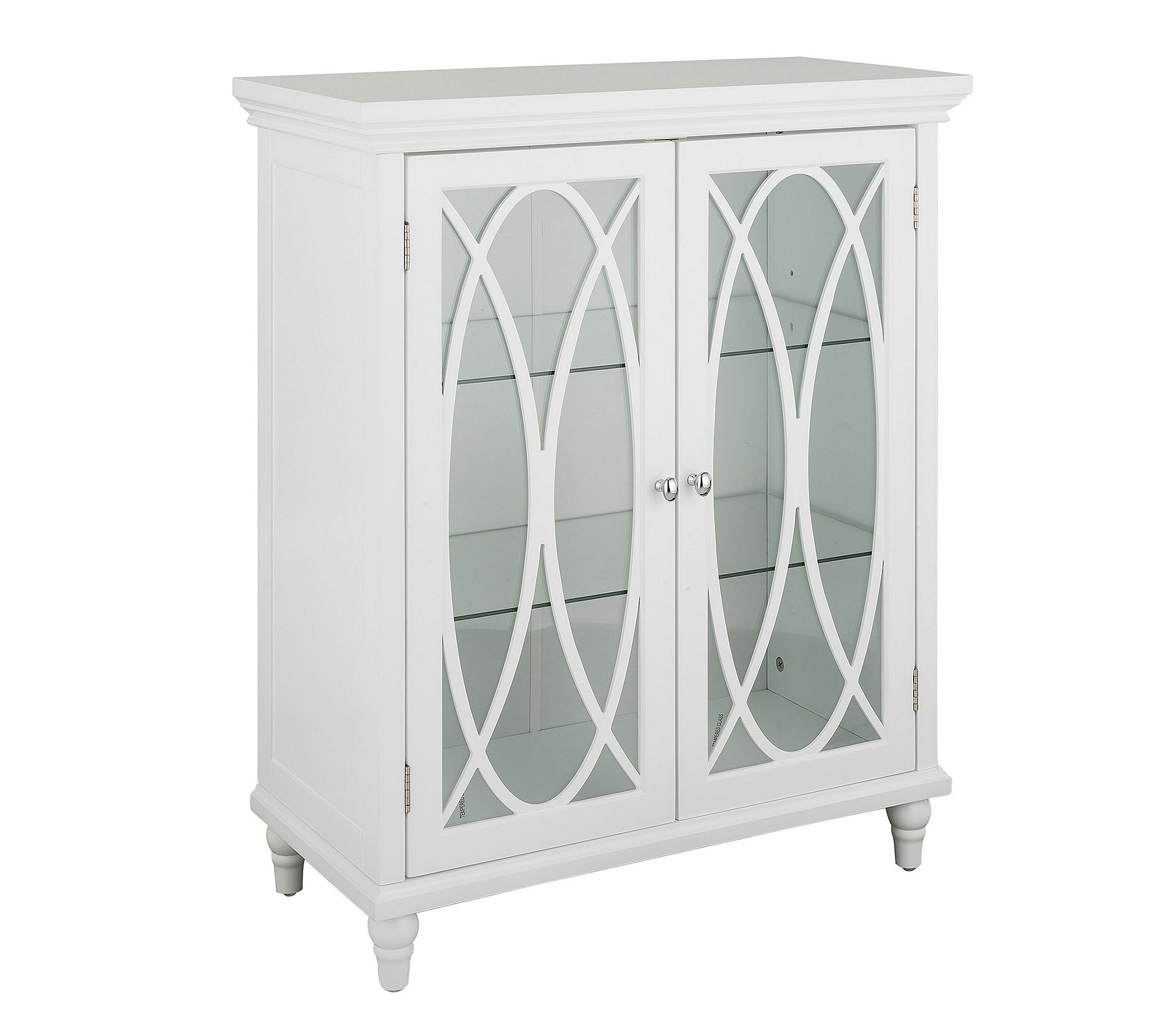 Elegant Home Fashions Florence 2 Door Floor Cabinet in White