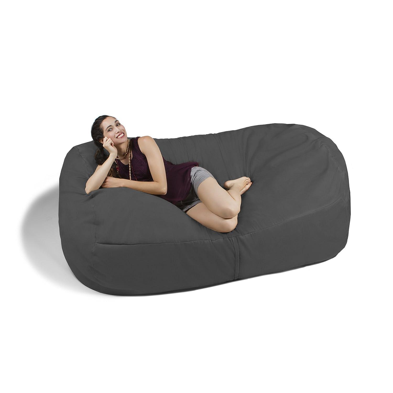 Amazon Jaxx 7 ft Giant Bean Bag Sofa Charcoal Kitchen & Dining