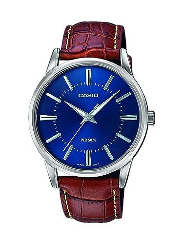99d78eb2896a Casio Reloj Analógico para Hombre de Cuarzo con Correa en Cuero  MTP-1303PL-2AVEF  Amazon.es  Relojes
