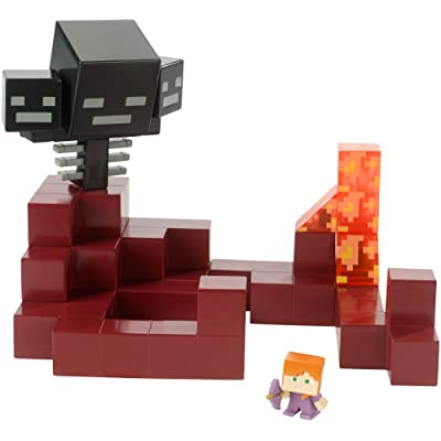 Minecraft Wither vs Alex (in Enchanted Armor) Battle In a Box: Toys & Games