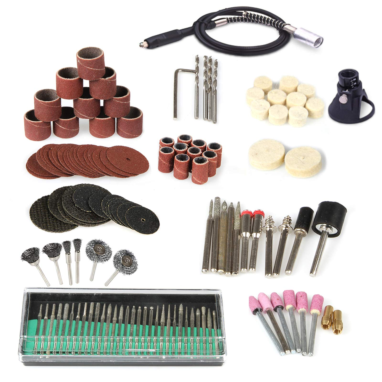 ANMAS 140X Electric Grinder Set Sanding Tool Replacement Accessories With Flexible Shaft Extension Cord For Electric Rotary Tool Power Mini Drill Sanders by Anmas