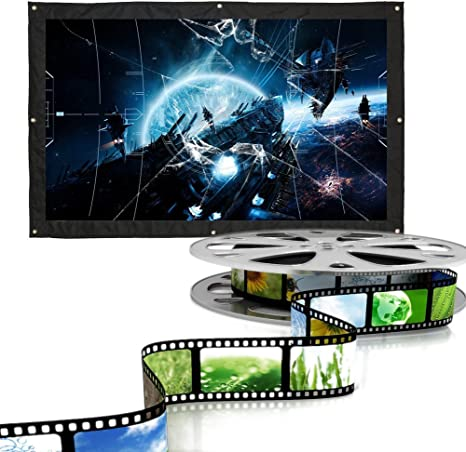 Pantalla de proyector portátil Proyección de Pantalla HD montable ...