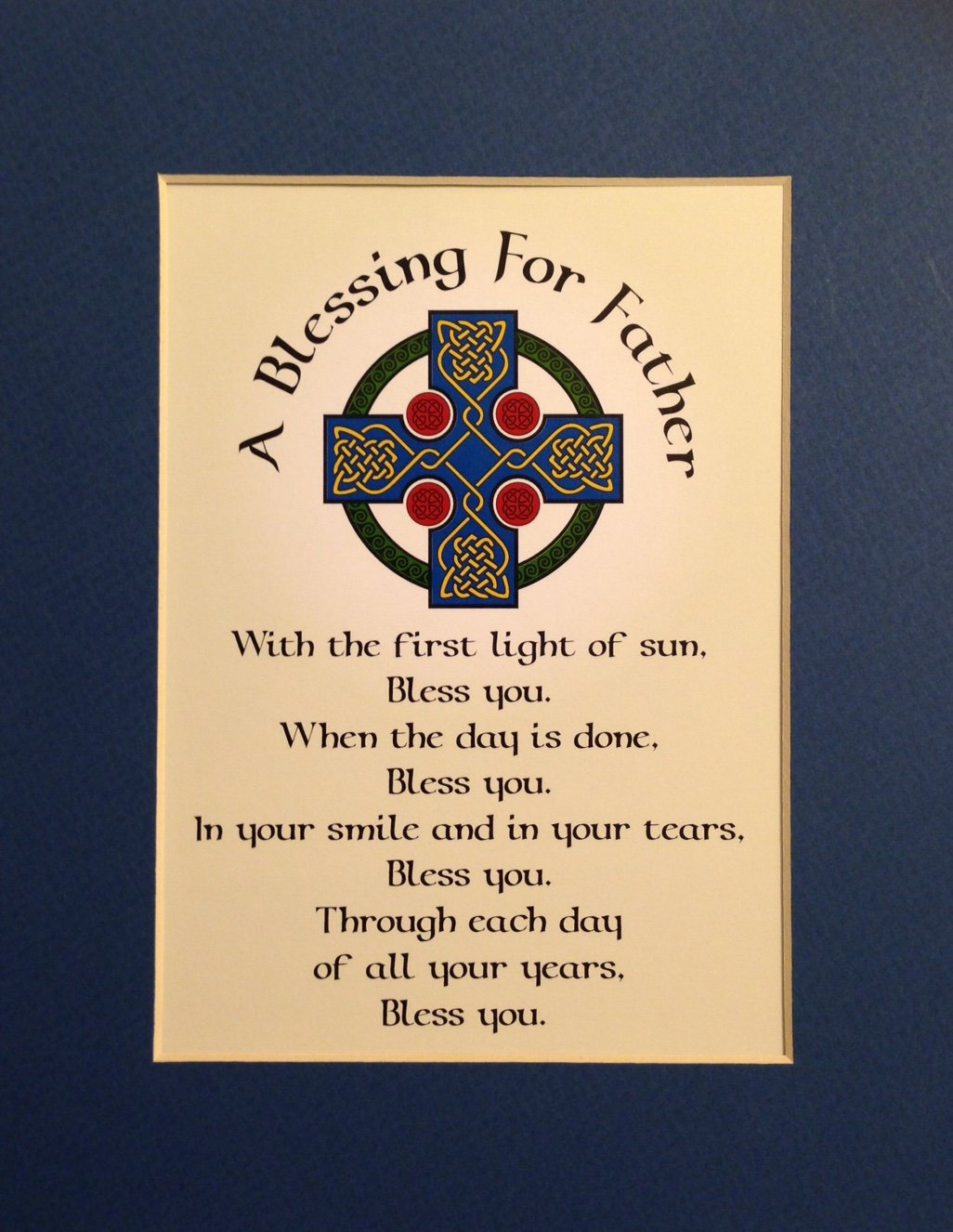 Charming Blessing For Father Matted 8x10 Irish Blessing Print