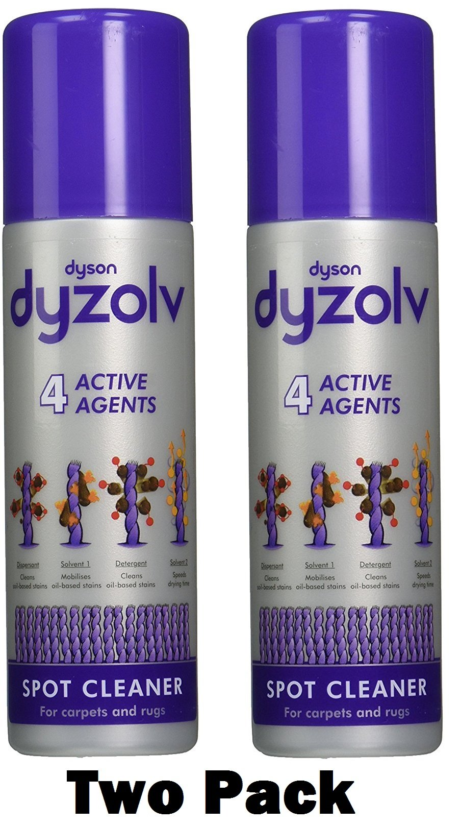 Dyson Dyzolv, Stain and Spot Remover 8.5Oz Spray (Two Pack)