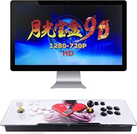 TAPDRA Pandora's Box 9D Multiplayer Joystick and Buttons Arcade Console,  Arcade Games Machines for Home, 2700 Retro Classic Video Games All in One  ...