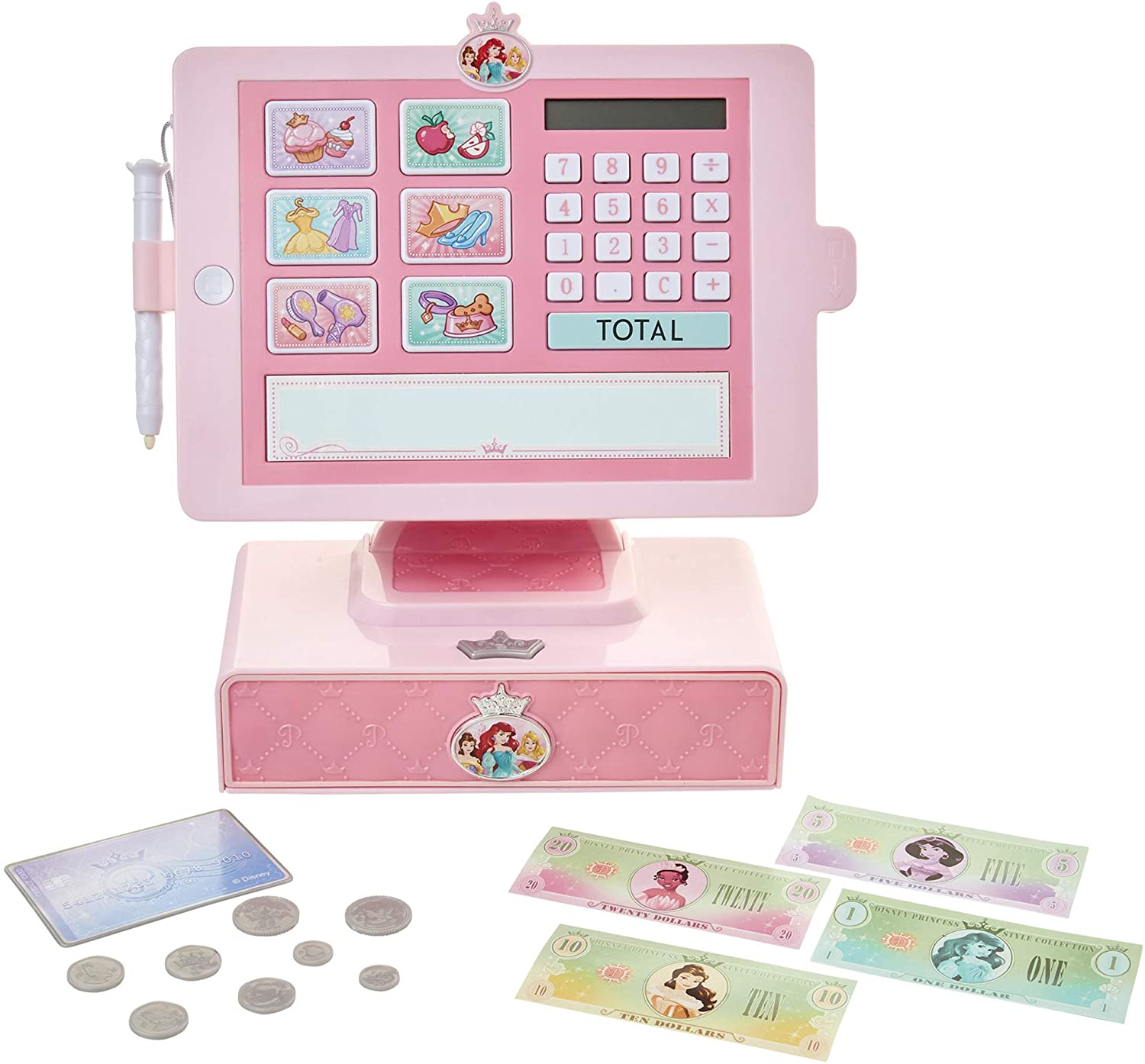 Disney Princess Style Collection Shop 'N Play Cash Register with Sounds & Phrases for Girls Ages 3+