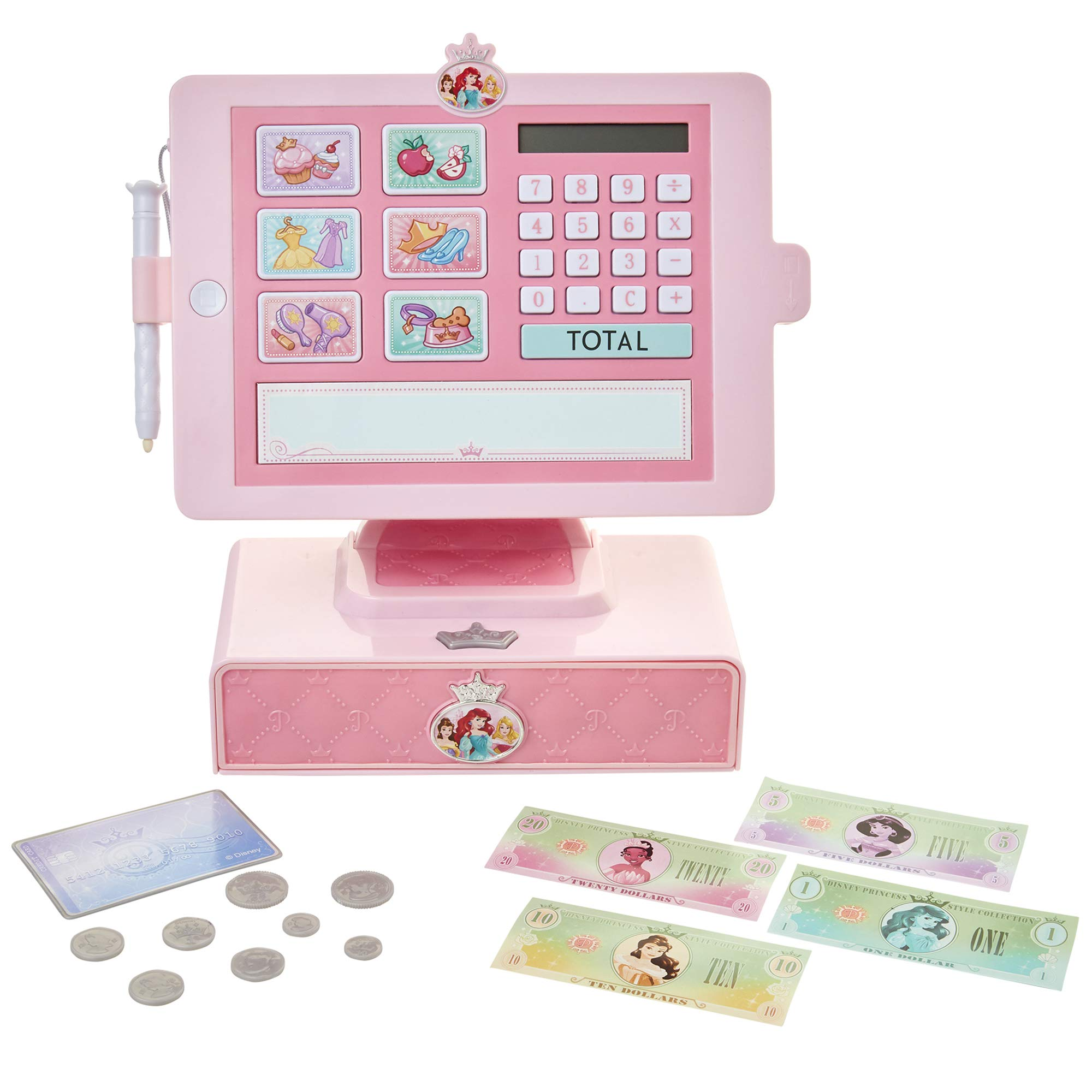 Disney Princess Style Collection Shop 'N Play Cash Register with Sounds & Phrases for Girls Ages 3+ by Disney Princess