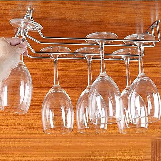 Artículos y equipo de servicio para la restauración Utensilios de bar Jianzheng Rack para Botellas de Vino Cristal Rack Stemware montado en la Pared para Soporte Vidrio Rack Display para el hogar y la Cocina
