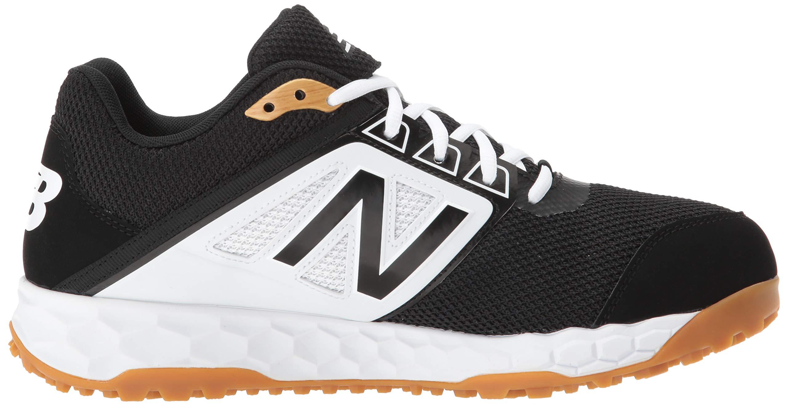 New Balance Men's 3000v4 Turf Baseball Shoe, Black/White, 5 D US by New Balance (Image #7)