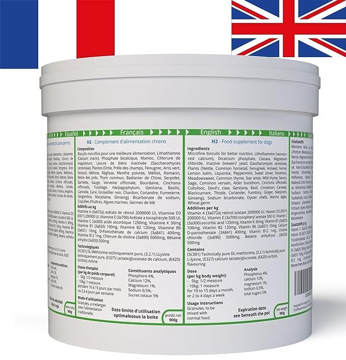 ww7 H2 Fórmula Natural para camada, Cachorros y crías de Perros -900g: Amazon.es: Productos para mascotas