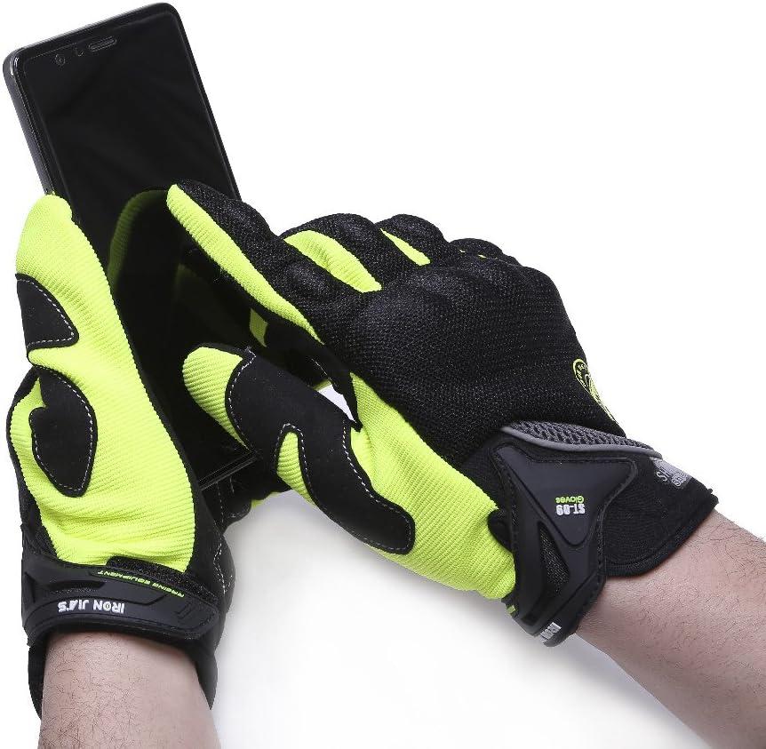 Motorradhandschuh Herren Motorradhandschuhe atmungsaktive Vollfinger-Motorradhandschuhe Touchscreen Kn/öchelhandschuhe Sommer