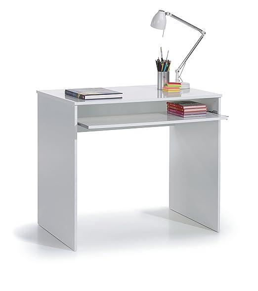 SERMAHOME- Mesa de Escritorio y Ordenador con Bandeja extraíble ...