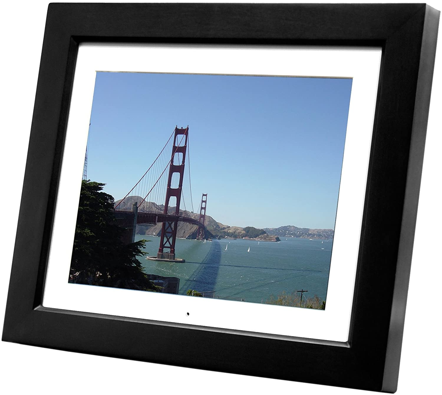 amazoncom pandigital 104 inch digital picture frame with 2 interchangeable frames and 256mb memory card digital photo frame wood camera photo