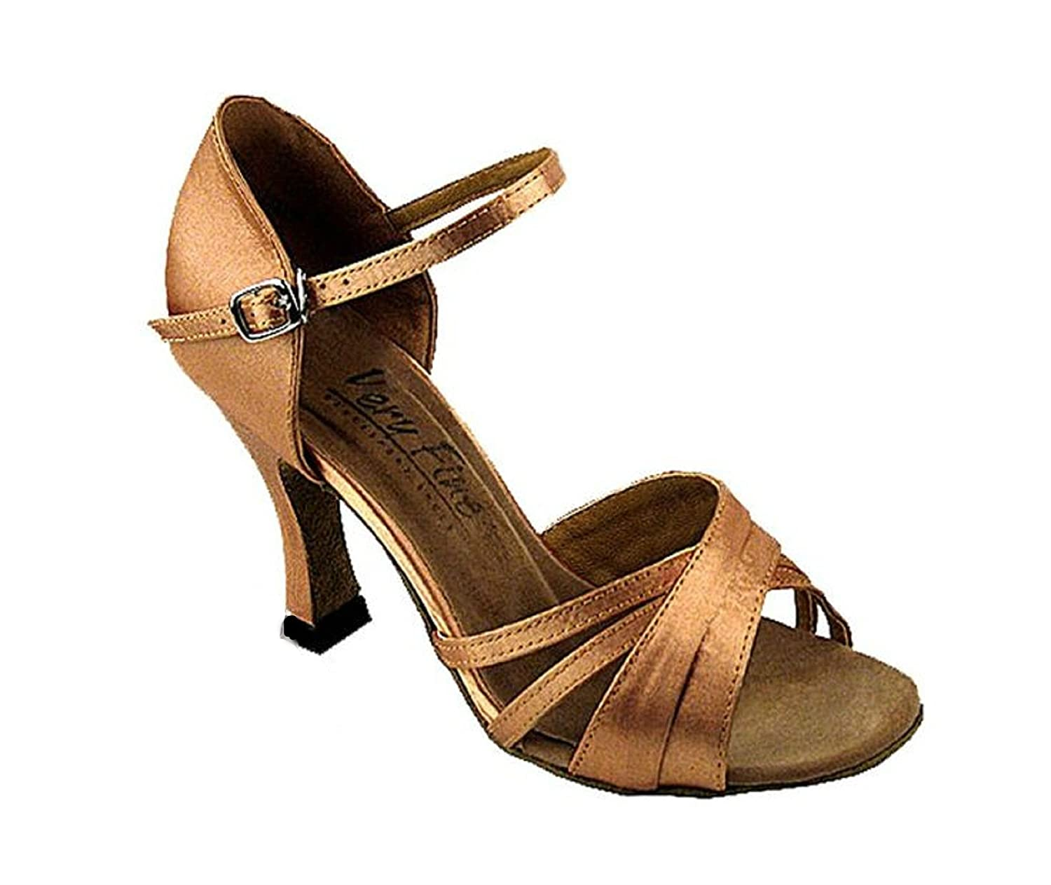2.5 Heel Size 8US Competition Grade Very Fine Dance Shoes 6030 Bronze Satin