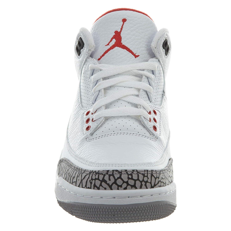 3c05b50cc377 Nike Men s Air Jordan 3 Retro White Red-Grey-Black Basketball Shoes-12  UK India (47.5 EU) (136064-116)  Buy Online at Low Prices in India -  Amazon.in