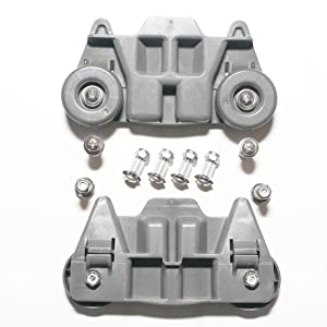 PREMIUM STAINLESS STEEL W10195416 lower dishwasher rack replacement wheel hubs- Pat. Pending- The Hubs will outlive your dishwasher at a fraction of the price! 8 Pack-Designed & Assembled in USA